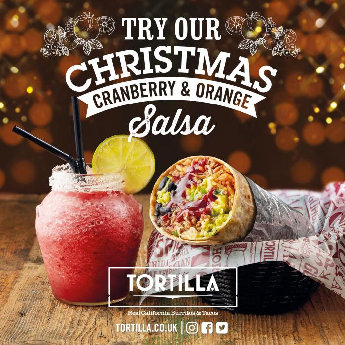 Tortilla Christmas salsa