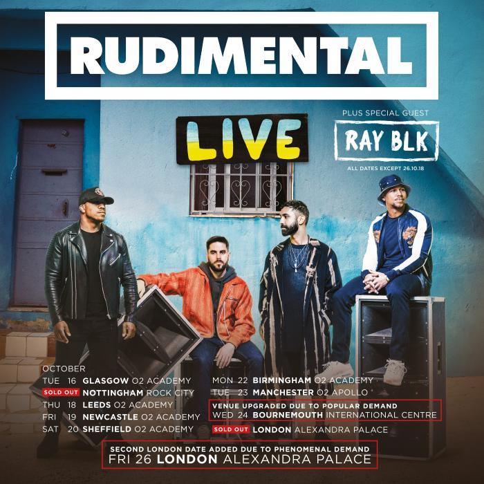 Rudimental at Leeds O2 Academy on Thursday 18th October 2018