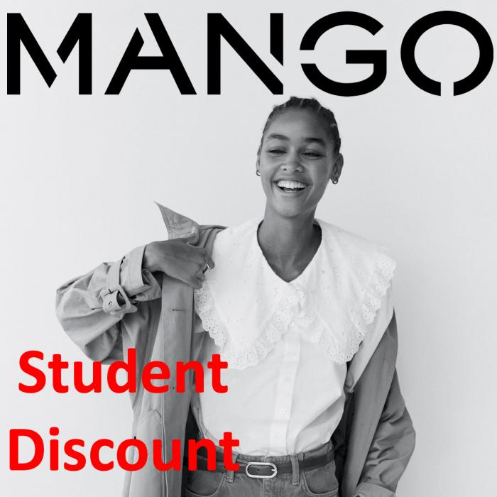 Student discount at Mango