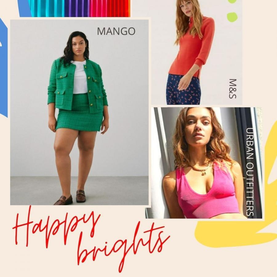 Happy brights trend moodboard