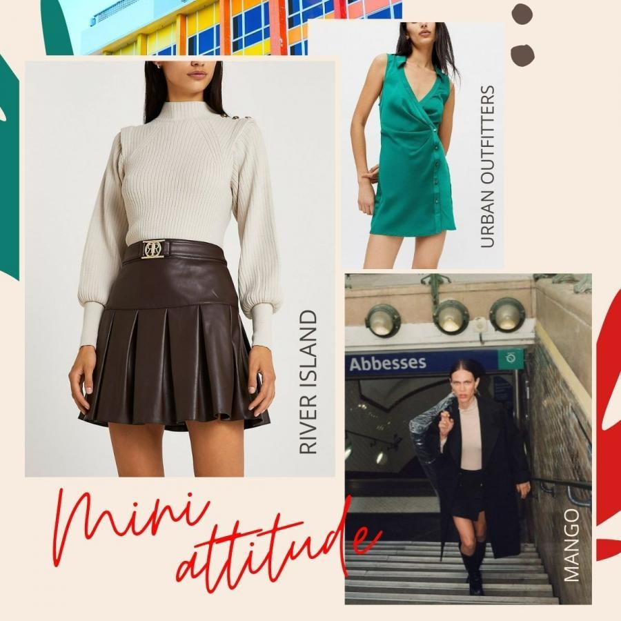 mini skirt trend board