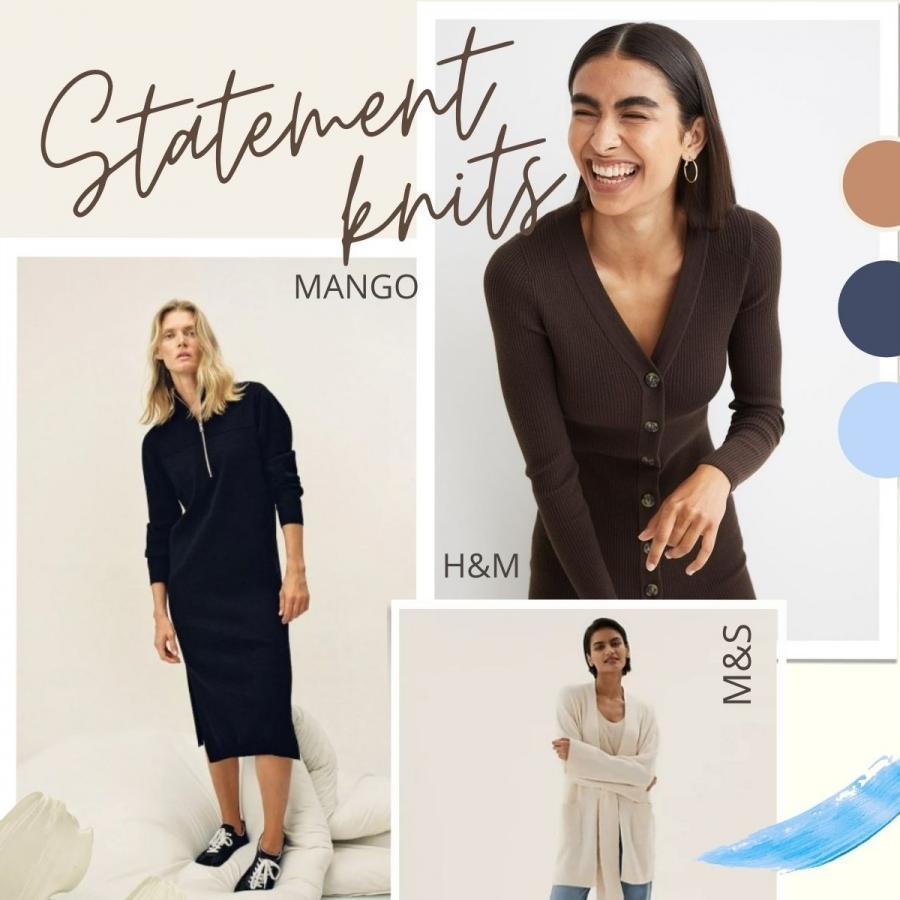 Statement knitwear moodboard