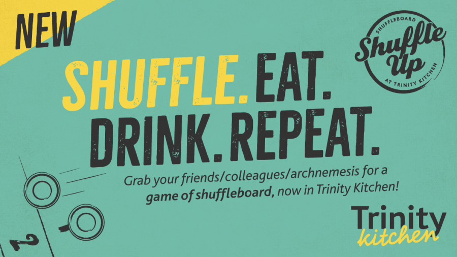 Shuffleboard, beer and sport screens Trinity Leeds, Leeds city centre