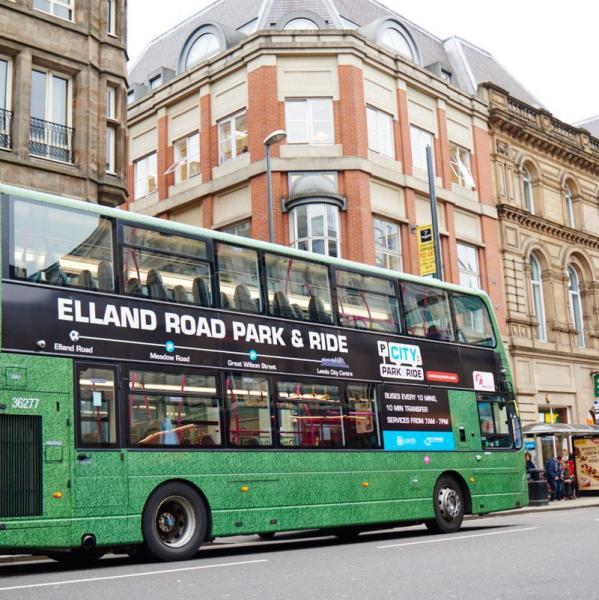 Bus ride to Trinity Leeds