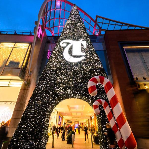 Trinity Leeds Christmas lights