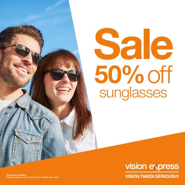 23d6df7f96 Vision Express offers half-price on selected sunglasses