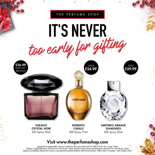 Get ahead on gifting at The Perfume Shop